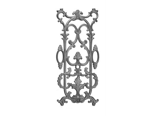 Cast iron 25.75 x 11.25 railing panel