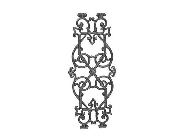 Cast iron 27.25 x 11.25 railing panel