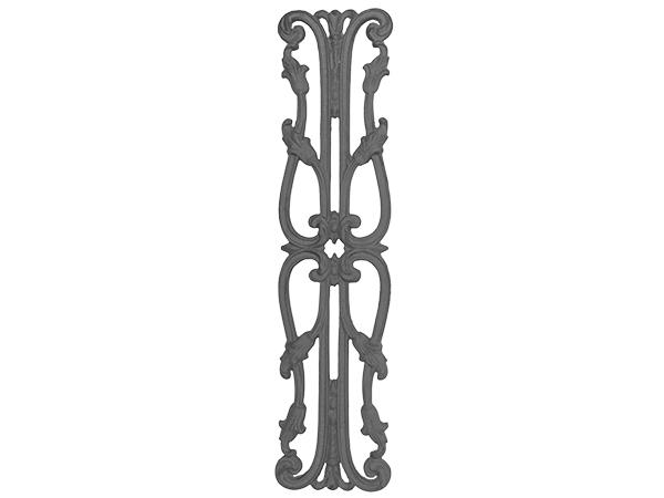 Cast iron 28.25x6.75 inch railing casting