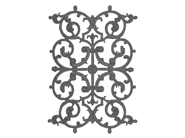 Cast iron, b.o.p. panel