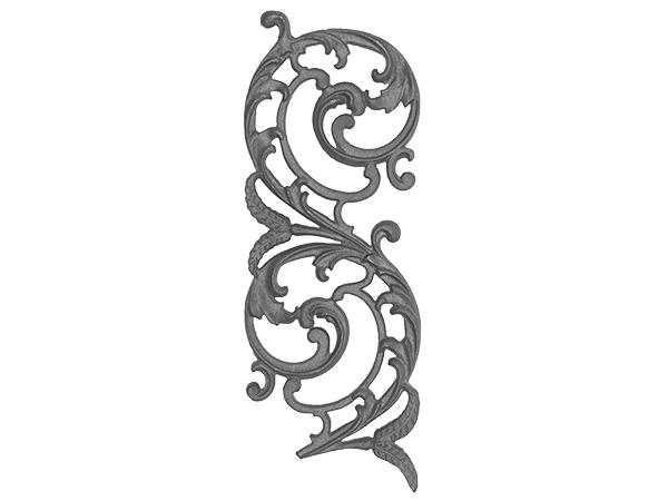 Cast iron, b.o.p., railing panel