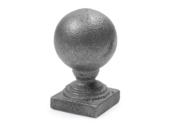 Cast iron ball solid base cap