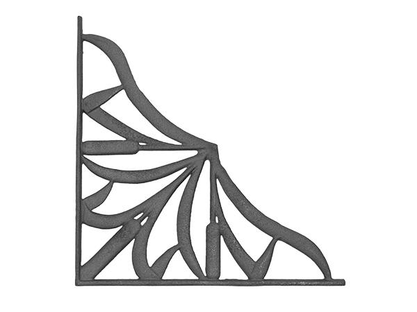 Cast iron cat tail corner casting
