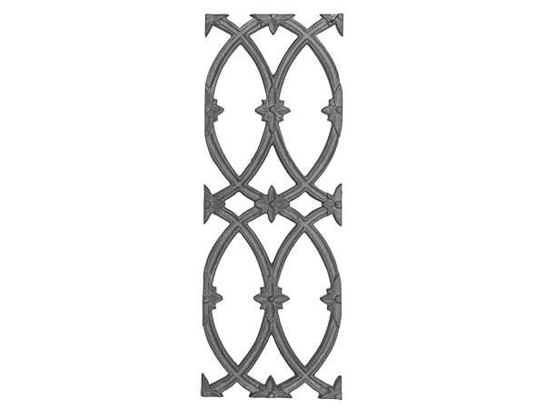 Cast iron cathedral railing panel