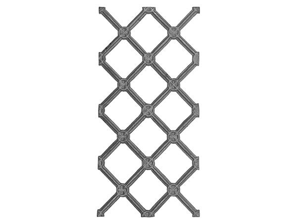 Cast iron contemporary railing panel