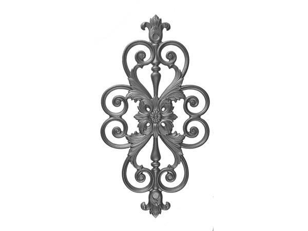 Cast iron decorative plaque insert