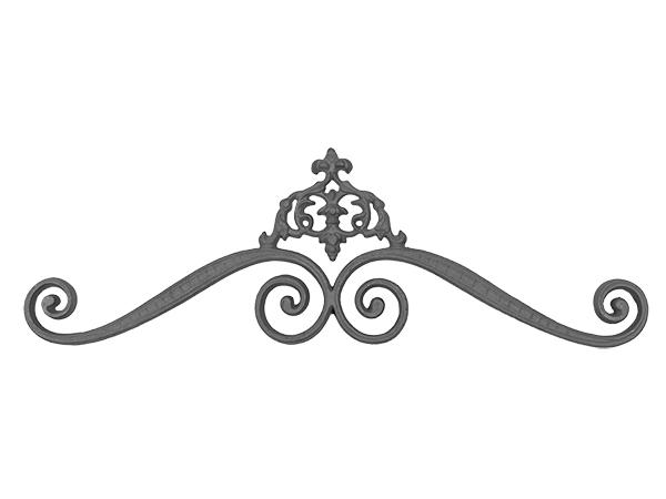 Cast iron elegant scroll down