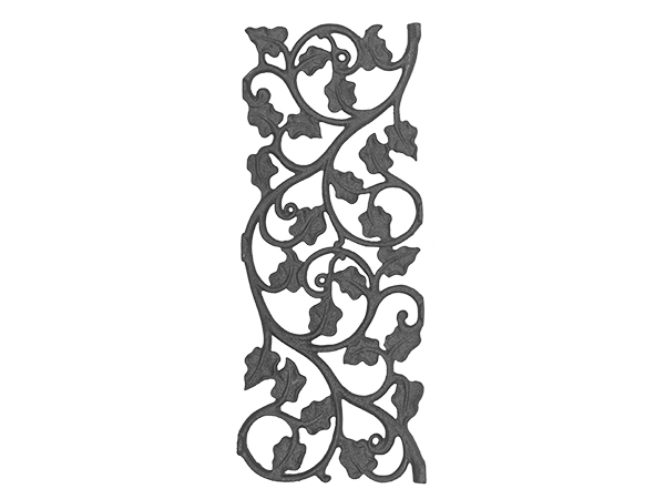 Cast iron ivy leaf rail casting