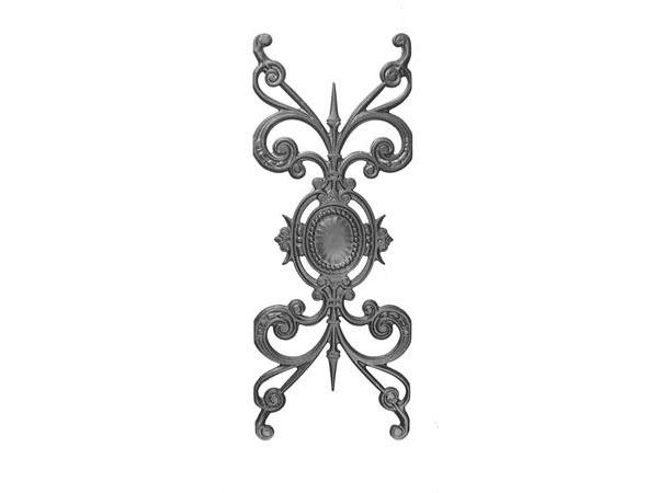 Cast iron medallion railing panel
