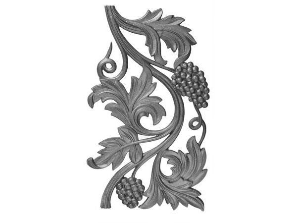 Cast iron new grape railing casting