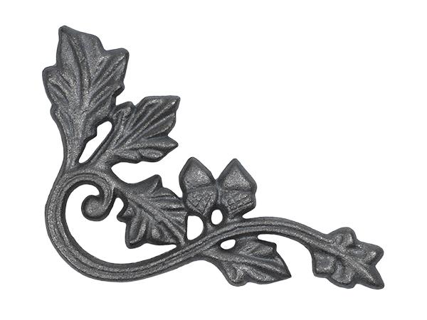 Cast iron oak leaf corner casting
