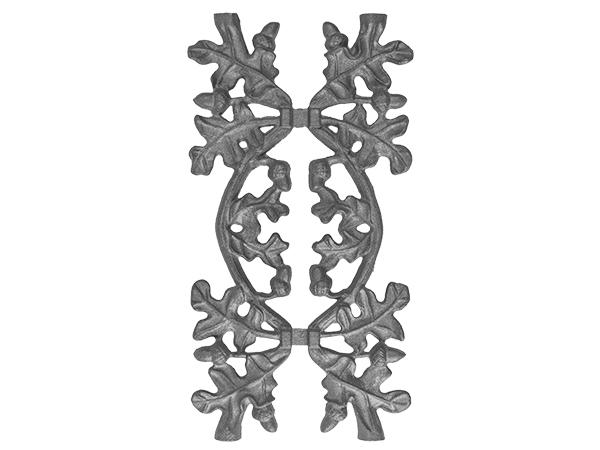 Cast iron oak picket casting