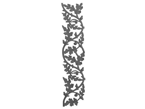 Cast iron oak railing casting