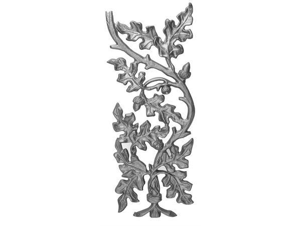Cast iron oak railing panel