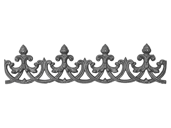 Cast iron oak valance, 5 x 21-inch