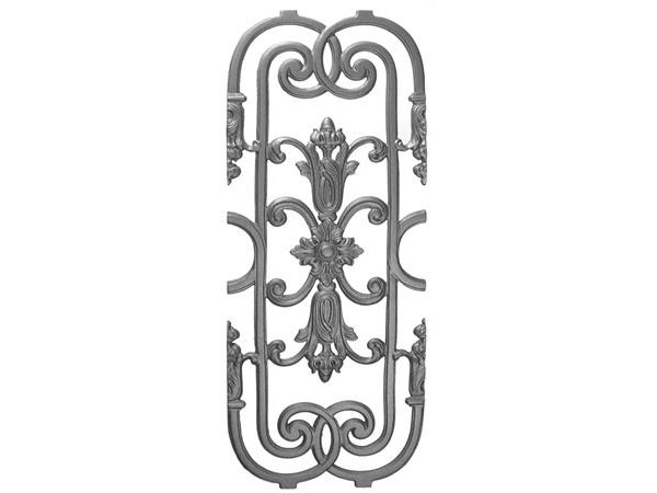 Cast iron palmetto panel