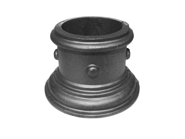 Cast iron pipe base, 6 inch