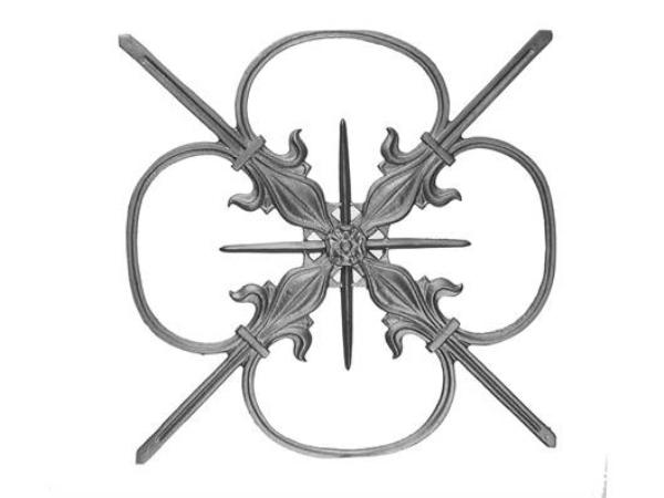 Cast iron plaque railing casting