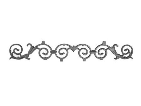 Cast iron portabella valance