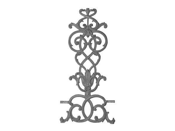 Cast iron pontabla panel, 3 piece center