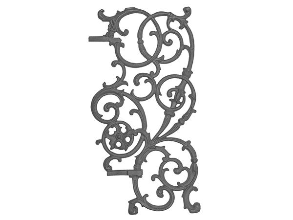 Cast iron pontabla panel, 3 piece right