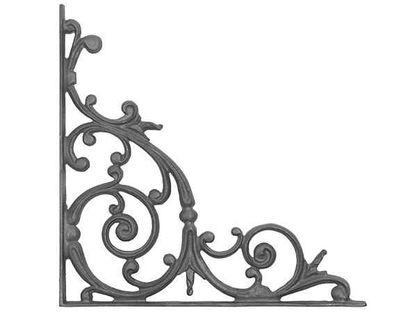 Cast iron pontalba corner casting