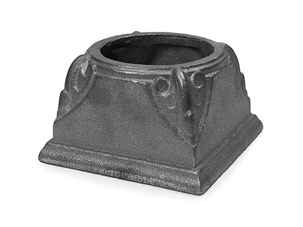 Cast iron post base for 3 inch, pipe
