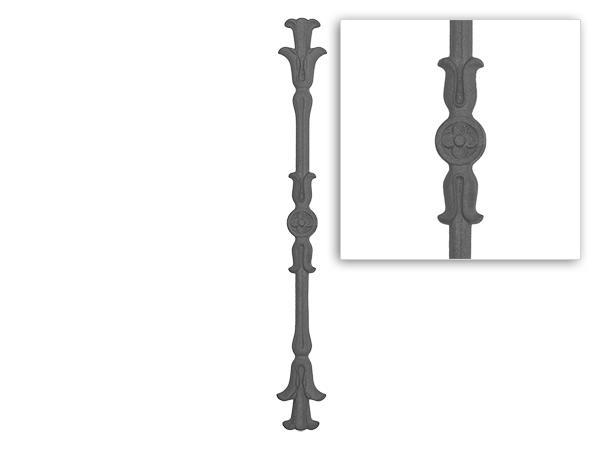 Cast iron railing baluster, 28.5 inch