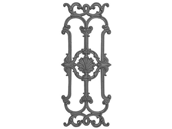 Cast iron railing casting, 28.75 x 11.75-inch