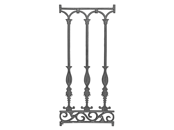 Cast iron railing casting, 30.75 x 14 inch