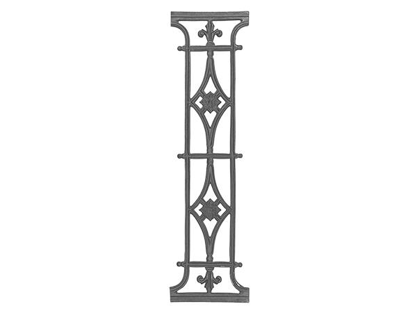 Cast iron railing panel, 32 x 8.75-inch