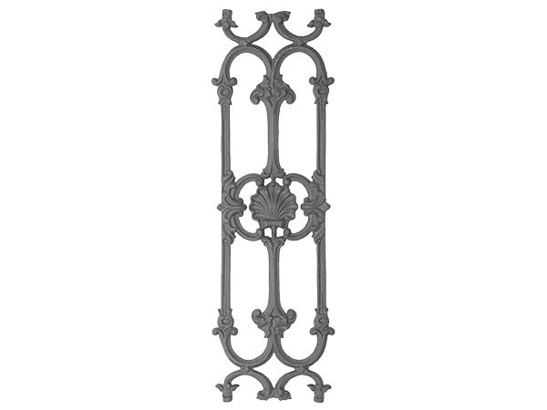 Cast iron railing panel casting