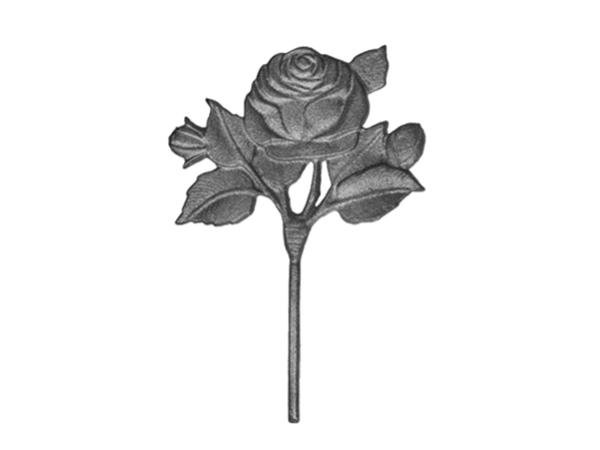 Cast iron rose bud casting