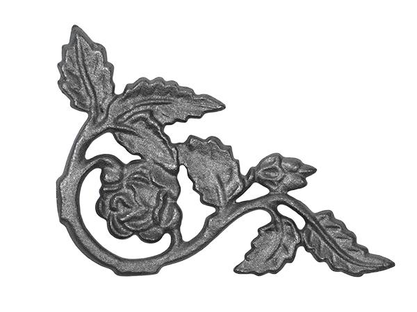 Cast iron rose corner casting, no flange