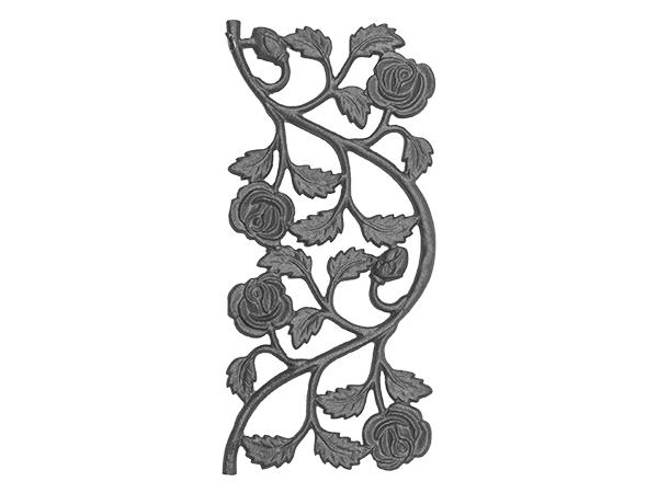 Cast iron rose railing casting double face