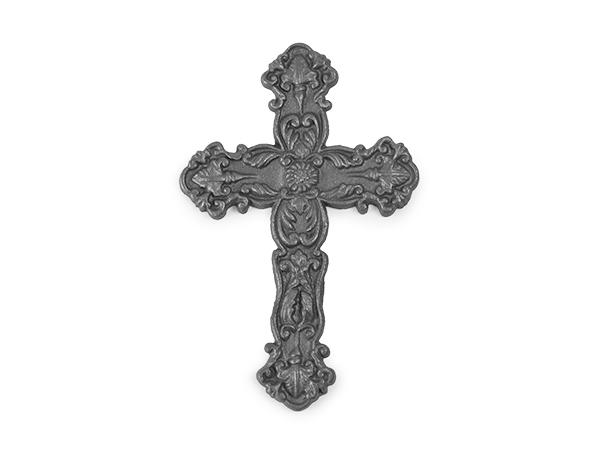 Cast iron rosette cross