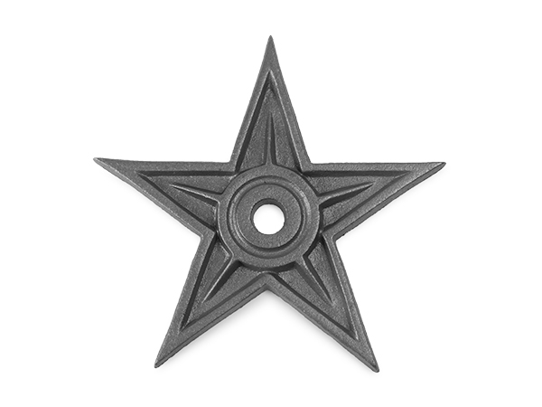 Cast iron rosette star