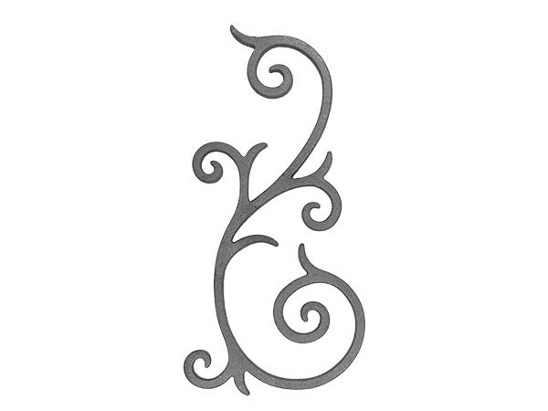 Cast iron scroll railing panel