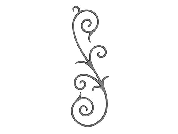 Cast iron scroll type panel casting