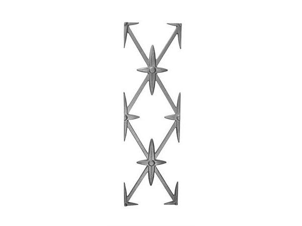 Cast iron starburst railing panel