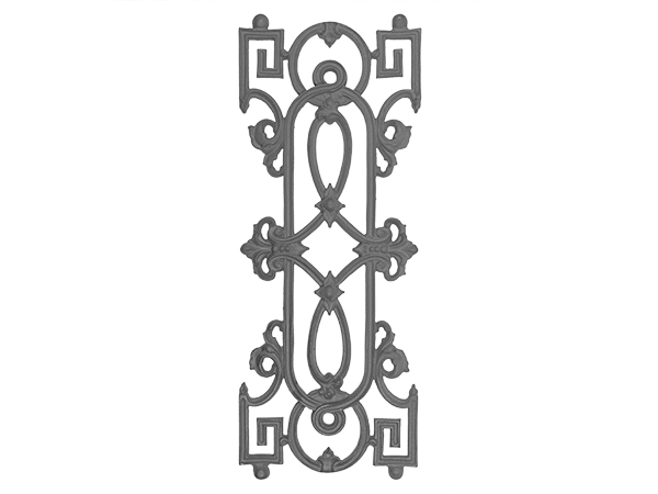Cast iron traditional modern panel