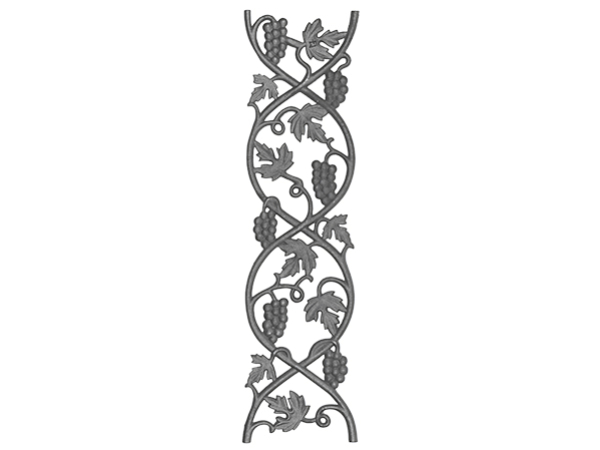Cast iron vineyard casting, 29-inch continuous