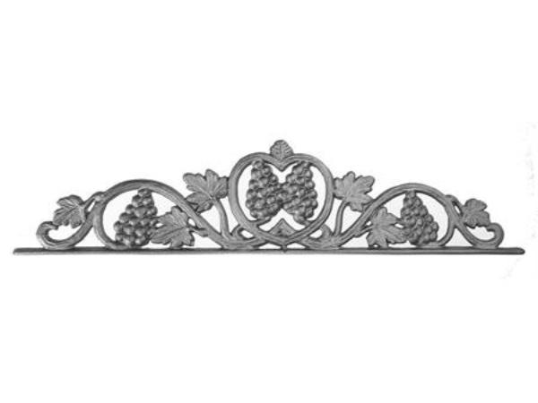 Cast iron vineyard gate top