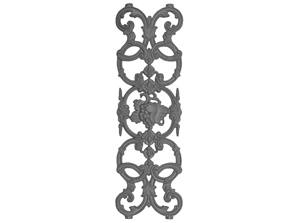 Cast iron vineyard panel