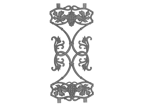Cast iron vineyard railing casting