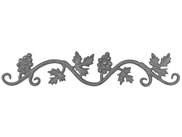 Cast iron vineyard valance