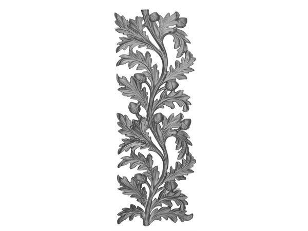 Cast iron water oak railing panel