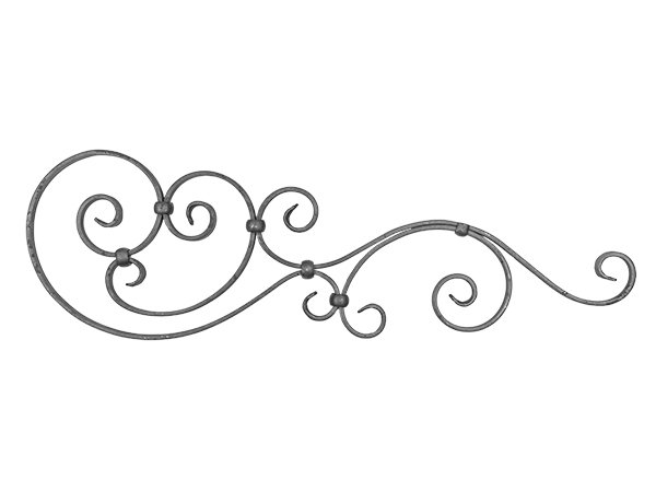 Forged steel gate top, 29.5x9-inch