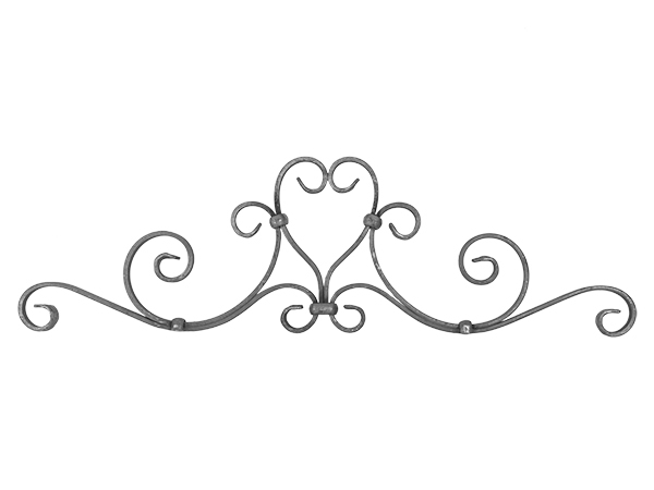 Forged steel gate top, 31.5x9-inch