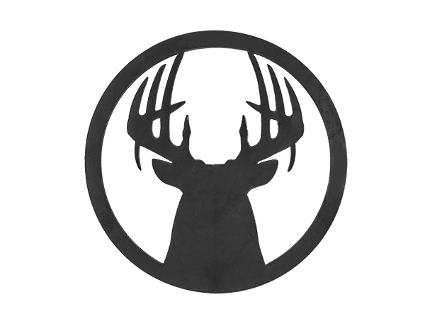 Plasma cut sign of buck in 8 inch